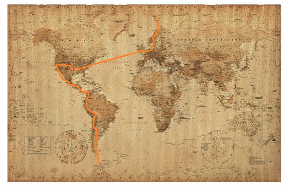 world map website
